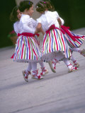 Children's Dance Group at Poble Espanyol, Montjuic, Barcelona, Spain Photographic Print by Michele Westmorland