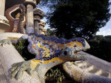 Lizard Mosaic in Parc Guell, Barcelona, Spain Photographic Print by Michele Molinari