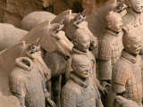 Terra Cotta Warriors at Emperor Qin Shihuangdi's Tomb, China Photographic Print by Keren Su