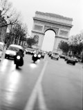 Evening Traffic on Champs Elysees, Paris, France Photographic Print by Walter Bibikow