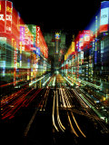 Neon, Tokyo, Japan Photographic Print by Rob Tilley