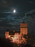 Dracula Castle at Night, Bran Castle, Transylvania, Romania Photographic Print by Russell Young