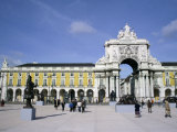 Triumphal Arch and Praca do Comercio, Baixa, Lisbon, Portugal Photographic Print by Michele Molinari