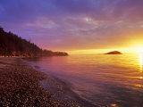 Sunset at North Beach at Deception Pass State Park, Washington, USA Stampa fotografica di Chuck Haney