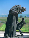 Statue of St. Francis of Assisi at the Viansa Winery, Sonoma County, California, USA Photographic Print by John Alves