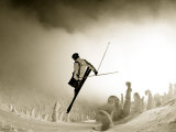 Ski Jump in Fog at Big Mountain Resort, near Whitefish, Montana, USA Photographic Print by Chuck Haney