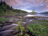 Lower Stillwater Lake in the Flathead National Forest, Montana, USA Photographic Print by Chuck Haney