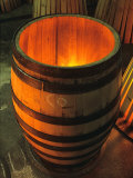 Toasting a New Oak Wine Barrel at the Demptos Cooperage, Napa Valley, California, USA Photographic Print by John Alves