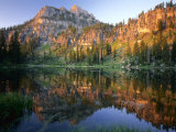 Mt. Magog Reflected in White Pine Lake at Sunrise, Wasatch-Cache National Forest, Utah, USA Photographic Print by Scott T. Smith