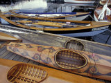 Kayaks and Rowboats at the Center for Wooden Boats, Seattle, Washington, USA Photographic Print by William Sutton