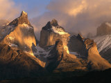 The Cuernos del Paine (Horns of Paine) at Sunrise, Patagonia, Chile, Photographic Print