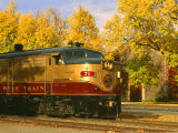 Napa Valley Wine Train Rolls through Rutherford, California, USA Photographic Print by John Alves