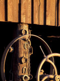 Horseshoes Hang on a Post at the Blacksmith's Shop, Fort Walla Walla Museum, Washington, USA Photographic Print by Brent Bergherm