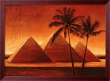 Sunset on Pyramids I Prints by Alain Satie