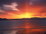 Sunset over Farmington Bay, Great Salt Lake, Utah, USA Photographic Print by Scott T. Smith