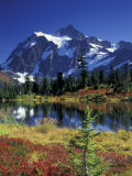 Picture Lake and Mount Shuksan at Heather Meadows, Washington, USA Photographic Print by Jamie & Judy Wild