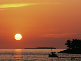 Sunset at Mallory Pier, Key West, Florida, USA Photographic Print by Rob Tilley