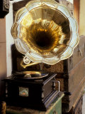 Gramophone, Bazaar Antique Shop, San Miguel de Allende, Mexico Photographic Print by Inger Hogstrom