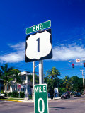 Mile Marker 0, Key West, Florida Keys, Florida, USA Photographic Print by Terry Eggers