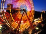 Ferris Wheel in the Family Fun Center at Waterfront Park, Portland, Oregon, USA Photographic Print by Janis Miglavs