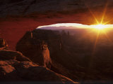 Sunrise in the Desert, Mesa Arch, Island in the Sky, Canyonlands National Park, Utah, USA Photographic Print by Jerry Ginsberg