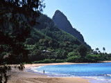 Hanalei Bay and Bali Hai, South Pacific, Hawaii, USA Photographic Print by Charles Sleicher