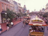 Main Street USA, Walt Disney World, Magic Kingdom, Orlando, Florida, USA Photographic Print by Nik Wheeler