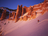 Skier Enjoys Alpenglow, Cedar Breaks National Monument, Utah, USA Photographic Print by Howie Garber