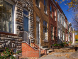 Row Houses in Fells Point Neighborhood, Baltimore, Maryland, USA Photographic Print by Scott T. Smith