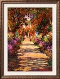 Il Viale del Gardino Print by Claude Monet