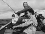 Lord Louis Mountbatten, with Daughter and Grandchildren Fishing During a Holiday Premium Photographic Print by Ralph Crane