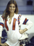 "Actress Raquel Welch in Uniform During Filming of Motion Picture ""The Kansas City Bomber"" Premium Photographic Print by Bill Eppridge"