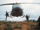 Action Operation Pegasus: American Soldiers Aiding S. Vietnamese Forces to Lift Siege of Khe Sanh Premium Photographic Print by Larry Burrows