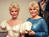 Actresses/Sisters Eva and Zsa Zsa Gabor Premium Photographic Print by David Mcgough