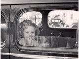Actress Shirley Temple Arriving at 20th Century Fox Film Studio Lot to Celebrate Eighth Birthday Premium Photographic Print by Alfred Eisenstaedt