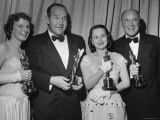 Oscar Winners Mercedes McCambridge and Dean Jagger During 22nd Annual Academy Awards Premium Photographic Print by Ed Clark