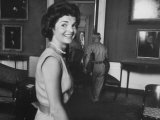 First Lady Jackie Kennedy Supervising Workman in Room at the White House Photographic Print by Ed Clark