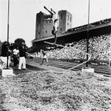 Pole Vaulter Harry Cooper's Pole Snapping During Olympic Trials Premium Photographic Print by Wallace Kirkland