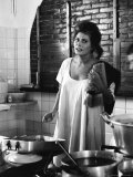 Actress Sophia Loren Premium Photographic Print by Alfred Eisenstaedt