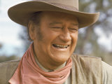 "Actor John Wayne During Filming of Western Movie ""The Undefeated"" Premium Photographic Print by John Dominis"