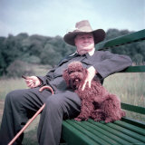Winston Churchill and Pet Dog Premium Photographic Print by Mark Kauffman