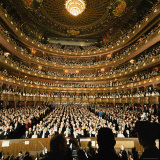 Audience at Gala on the Last Night in the Old Metropolitan Opera House Fotografisk tryk af Henry Groskinsky