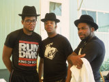 Rap Group Run DMC: Darryl McDaniels, Joe Simmons and Jason Mizell Premium Photographic Print by David Mcgough