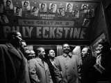 Entourage Members Surround Singer Billy Eckstin Premium Photographic Print by Martha Holmes
