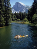 Tourists Float on a Raft in the Merced River at Yosemite National Park Premium Photographic Print by Ralph Crane