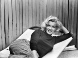 Actress Marilyn Monroe at Home Metal Print by Alfred Eisenstaedt