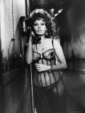 "Sophia Loren Wearing Costume, Talking on Telephone During Scene in ""Marriage, Italian Style"" Premium Photographic Print by Alfred Eisenstaedt"
