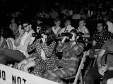 Crowd, Some with Binoculars, Awaiting Arrival of Rolling Stones for Concert at Forest Hills Stadium Premium Photographic Print by Walter Daran