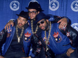 Rap Group Run DMC at the Grammys Joe Simmons, Darryl McDaniels and Jason Mizell Metal Print by David Mcgough