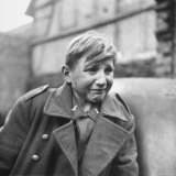 Fearful 15 Year Old German Luftwaffe Crying After Being Taken Prisoner by American Forces Photographic Print by John Florea